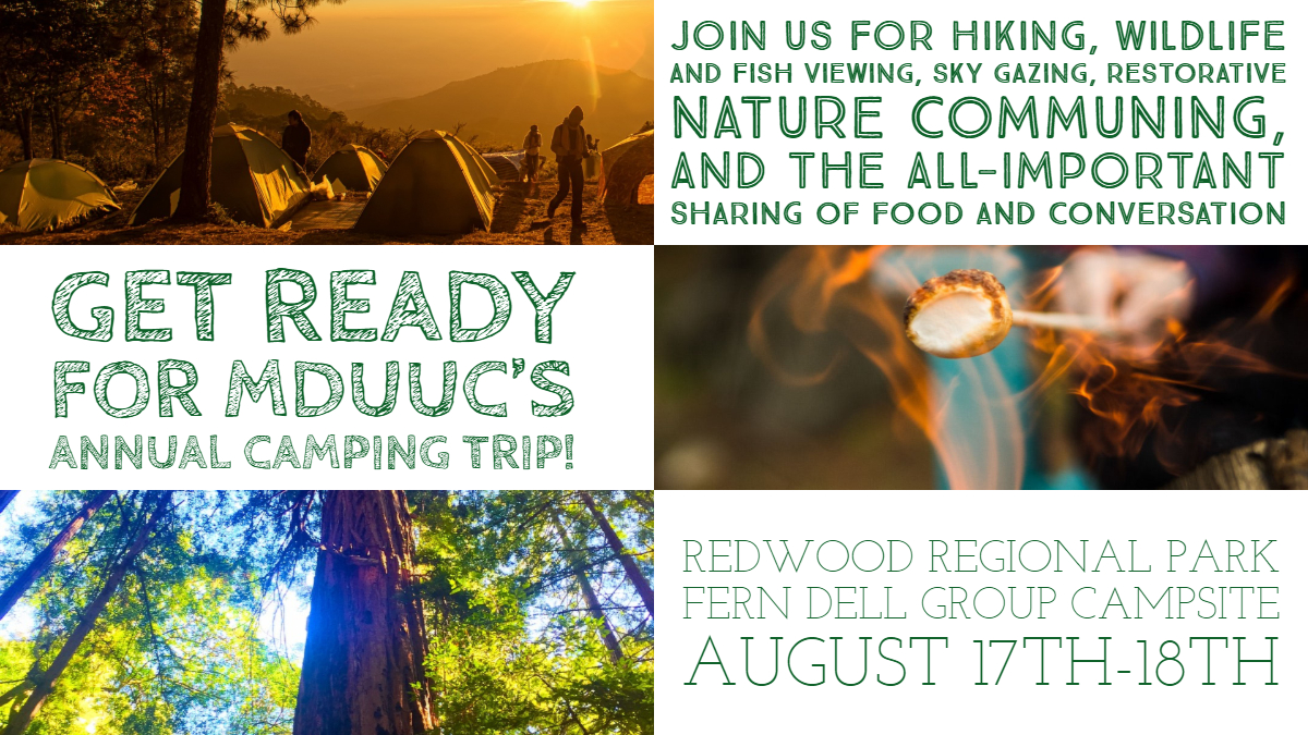 40+ Join MDUUC For Potluck & Camping!