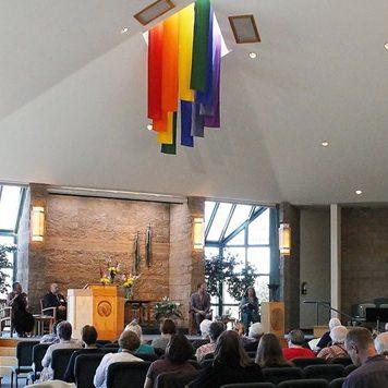 MDUUC sanctuary pulpit banners