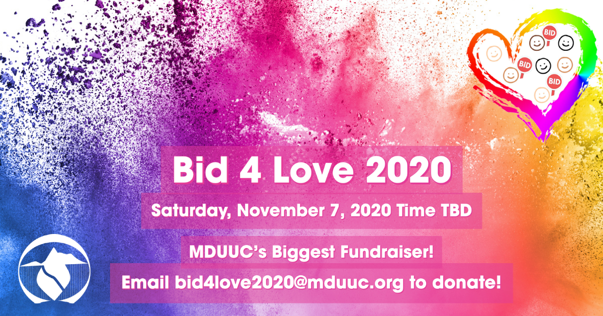 It Is Time To Bid4Love 2020! Your Donations Needed TODAY!