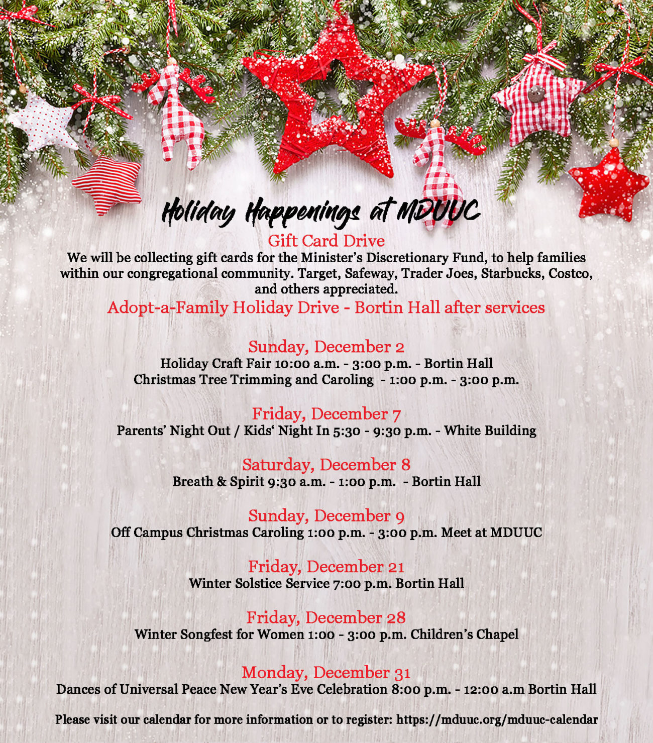 Holiday Services and Events | Mt Diablo Unitarian Universalist Church