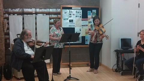 making music daniel christy julia in bortin hall