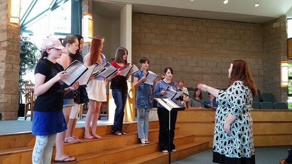 youth choir with Darla