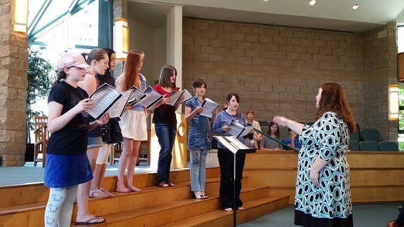 youth choir with Darla